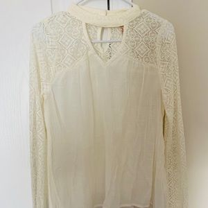 Red Camel cream blouse